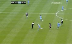 Sergio Aguero near miss .gif man city vs newcastle #MCFC #epl #newcastle #sports #gif