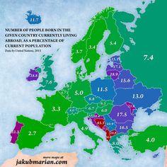 % людей проживающих за рубежем