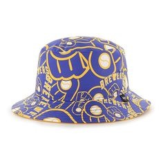 uk availability 52d81 72d84 Milwaukee Brewers Bravado 47 Brand Bucket Hat