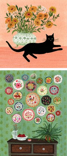 Gouache illustrations by Becca Stadtlander