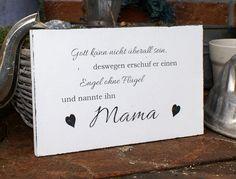 "Schild Holz ""Mama"" Shabby Chic  von white-living-art auf DaWanda.com"