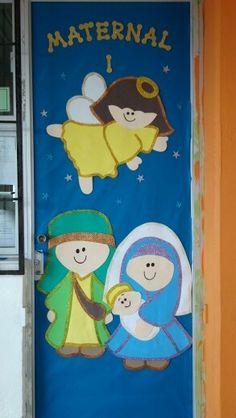 Puerta de navidad decorada buscar con google navidad for Puertas decoradas con dinosaurios