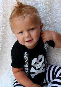 Punk Rock Baby Boy Rockstar Kit black romper one piece layette leg warmers gift box YOU CHOOSE IMAGE. $28.99, via Etsy.