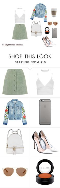 """1-9"" by cbbh on Polyvore featuring moda, Topshop, Boohoo, Off-White, Native Union, Michael Kors, Gianvito Rossi, Christian Dior e MAC Cosmetics"