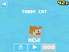 Just unlocked Tabby Cat! #crossyroad
