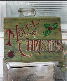 SALE Merry Christmas pallet sign decoration by SawmillCreations