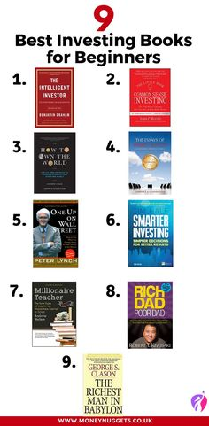 Investing books, Stock market books, Books to read in your Finance books, Investing in stocks, Stock market for beginners - 9 Best Investing Books for Beginners You Should Read - Stock Market Investing, Investing In Stocks, Investing Money, Saving Money, Stocks To Invest In, Books To Read In Your 20s, Best Books To Read, Good Books, Stocks For Beginners