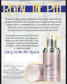 New Radiance Revealing Facial Peel! Contact me to get yours today! Marykay.com/hletner