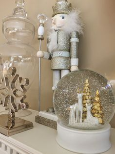 Happy decorating! It's time for the Holidays and I'm loving all the cute stuff at HomeGoods right now, like this nutcracker and snow globe that are perfect for your mantel.  [ sponsored ]