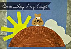 Groundhog Day Craft For Kids (Paper Plate) - Crafty Morning