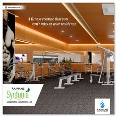 A fitness routine that you can't miss at your residence.    #RajhansSynfonia #RajhansRealEstate #RajhansGroupOfIndustries #Surat