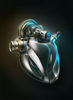 rhubarbes:  Acura Engine by Aleksandr Kuskov. (via ArtStation - Acura Engine, Aleksandr Kuskov)