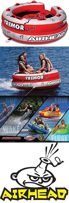 Tubing and Towables 71169: Airhead Ahtm-4 Tremor Inflatable 1-4 Person Towable Lake Water Tube Quad Rider BUY IT NOW ONLY: $307.99