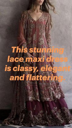 Maxi Dress With Sleeves, Lace Dress, Dress Girl, Eccentric, Boho Outfits, Girls Dresses, Classy, Elegant, Clothing