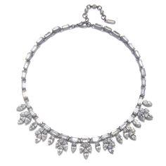 ben amun Crystal Leaf Necklace by Ben-Amun Bridal | Charm & Chain 495usd
