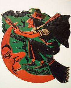 Vintage Halloween Diecut Witch | Flickr - Photo Sharing!