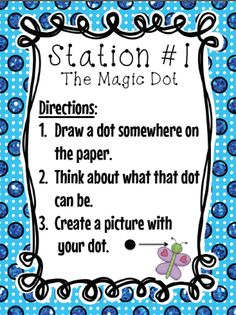 Great stations signs to use to celebrate International Dot Day with your students!