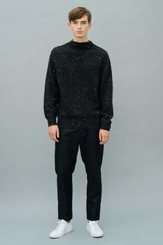 Kalan Cashmere/Wool Pullover Black Front View Dope Clothes, Cashmere Wool, Dope Outfits, Luxury Lifestyle, Men's Fashion, Women Wear, Product Launch, Normcore, Pullover