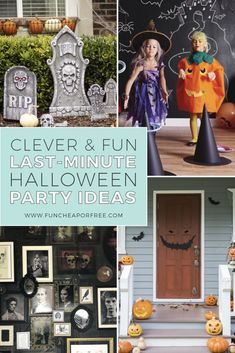 Halloween is almost here!! Now…raise your hand if you love to throw a great party, but you also tend to wait until the last minute to plan and prep. Gulp. Oops. The good news? You just hit the motherlode of last-minute Halloween party ideas to save the day! Vintage Halloween, Fall Halloween, Halloween Crafts, Happy Halloween, Halloween Party, Favorite Holiday, Holiday Fun, Holiday Ideas, Witch Costumes