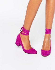 Туфли на каблуке с завязкой вокруг щиколотки London Rebel