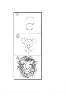 Art Class Works: Lions, Zebras, Giraffes and Elephants