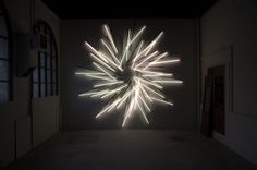 Nøne Futbol Club, Work n°534: Sunset 36 Fluorescent tubes, 650 x 650 x 6cm, 2012
