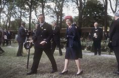 Charles McLaren, 3rd Lord Aberconway and Queen Elizabeth II (b.1926) at the Chelsea Flower Show