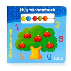 Dit boekje laat uw kind kennismaken met de eerste cijfers. Het telraam is speciaal ontwikkeld voor kleine handjes en de vrolijke kleuren en mooie tekeningen zorgen voor uren kijkplezier. Afmeting: 15,5 x 15,5 cm. - Mijn Telraamboek - Mijn huis en tuin