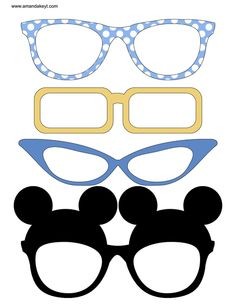 minnie mouse glasses printable - Google Search
