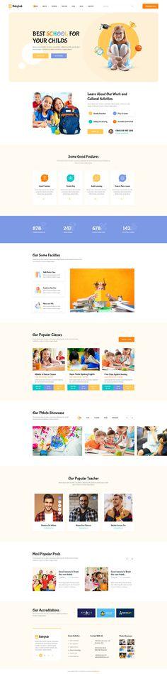 Ecommerce Website Design, Kids Study, Grid System, Corporate Design, Web Design Inspiration, Psd Templates, Build Something, Ui Design, Kindergarten