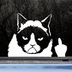 Grumpy Cat Car Decal - Awesome Gifts - ImAlwaysBroke.com