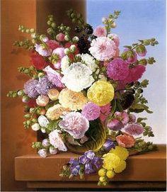 Adelheid Dietrich - naturaleza muerta de las flores