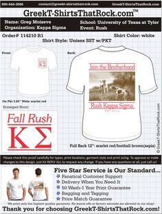 Kappa Sigma Rush  http://www.greekt-shirtsthatrock.com/