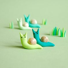 joojoo: polymer clay snails