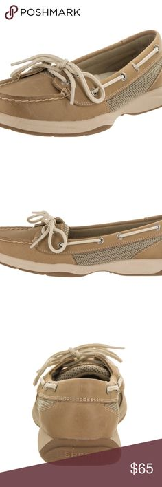Sperry Top-Sider Women's Laguna Boat Shoes fabric Women's Sperry, Laguna Boat Shoes Enjoy looking fabulous while out on the water! Leather and fabric upper with grommets and contrast-stitching for added appeal Lace up style for a secure fit Fabric lining Sperry Shoes Moccasins