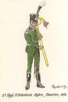 5ème régiment d'Infanterie Légère, Musicien 1812.