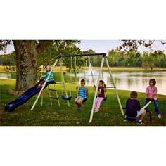 Triple Fun Metal Swing Set (Toy)