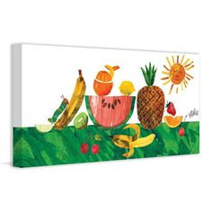 Marmont Hill Caterpillar and Tropical Fruit Print on Wrapped Canvas - MH-ECW-04-C-45