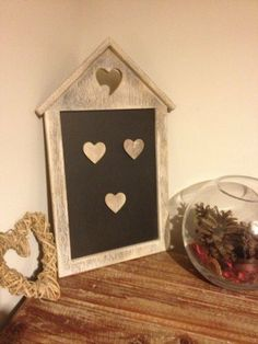 Perfect for displaying special offers and treatment prices!  Chic & Shabby Distressed Limewash Style Heart Magnetic Chalkboard & Memo Board / Blackboard with 3 Wooden Magnetic Hearts , http://www.amazon.co.uk/dp/B008GUZ7OU/ref=cm_sw_r_pi_dp_U863sb1D7GQV4