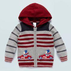 J By Jasper Conran Designer Baby's Grey Embroidered Bear In Car Cardigan: J by Jasper Conran: Amazon.co.uk: Baby