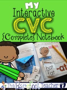 {Interactive Notebook} Students will interact with 19 different word families in this fun, engaging, and absolutely adorable CVC Words Interactive Notebook. $