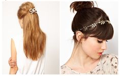 Subtle hair accessories can spice up any hairstyle. Summer Hairstyles, Cute Hairstyles, Feathered Hairstyles, Spice Things Up, Eye Makeup, Hair Beauty, Hair Accessories, Spring Summer, Style Inspiration
