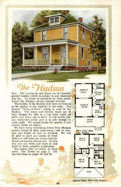 "Shirtwaist foursquare house: ""The Standard"" ALADDIN HOME ..."