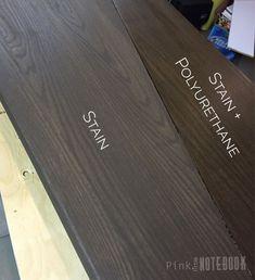 Staining Oak Stair Treads | Pink Little Notebook