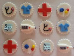 Medical Fondant Cupcake Toppers by ItMakesTheCake on Etsy