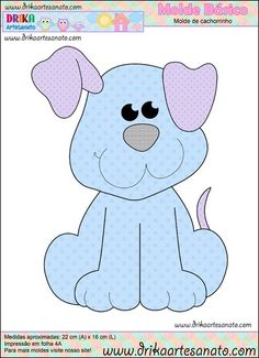 Patchwork moldes cachorrinho para patch aplique                              …