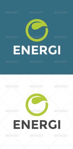Energi Logo Leaf Template  #GraphicRiver