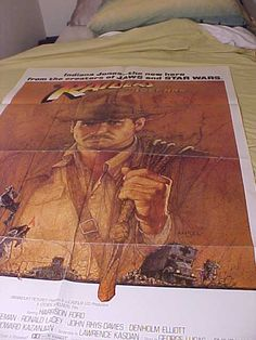 Original Rare Raiders of the Lost Ark 1 Sh Movie Poster by MAYSVTG, $279.95