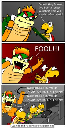 Bowser's never been a forward thinking kind of villain.
