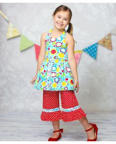 Girl's Sunshine Susan Playwear Set - Multi Color from Jelly the Pug